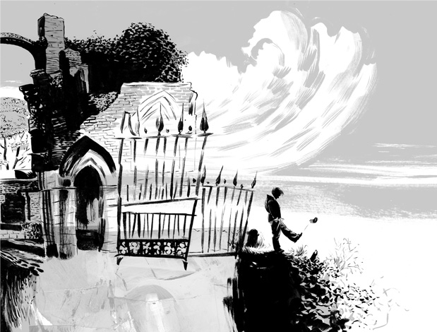 Graveyard Book Illustration