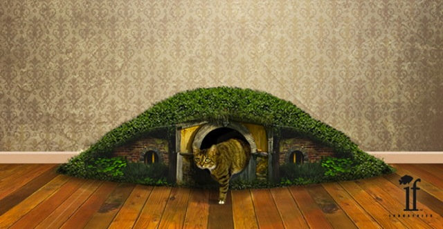 Hobbit Hole Litter Box