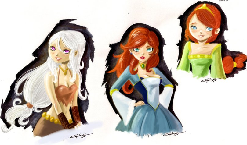 Ice and Fire  Females