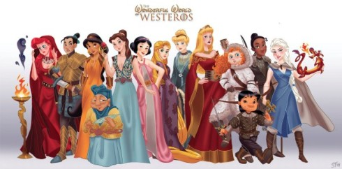 Game of Throne Disney Princesses