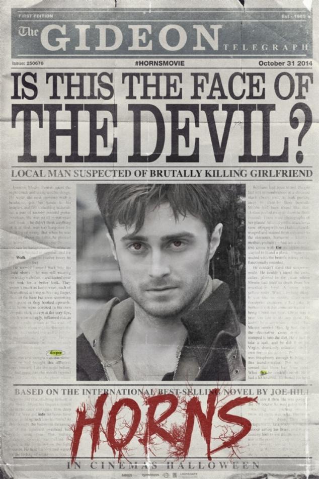 Horns Daniel Radcliffe Poster