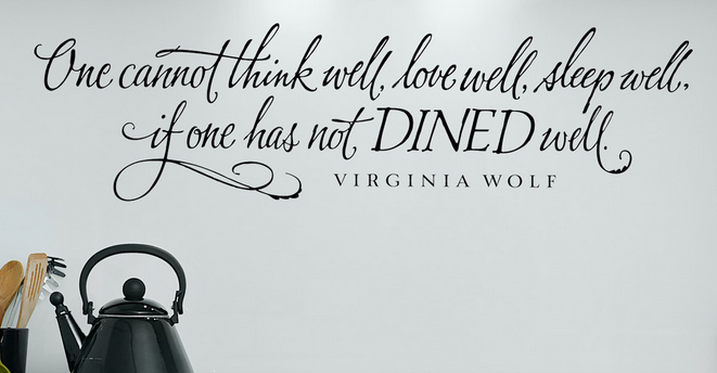 Virginia Wolfe Food Quote