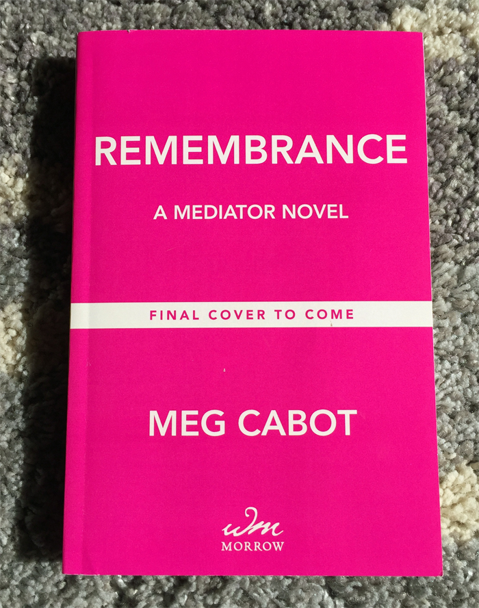 Remembrance ARC Meg Cabot