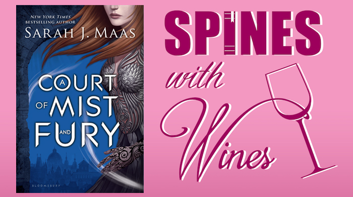 A Court of Mist and Fury Spines with Wines Book Club