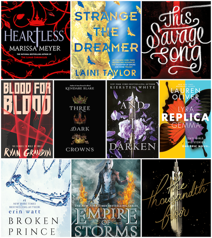 Top 10 Tuesday New Book Releases 2nd Half 2016
