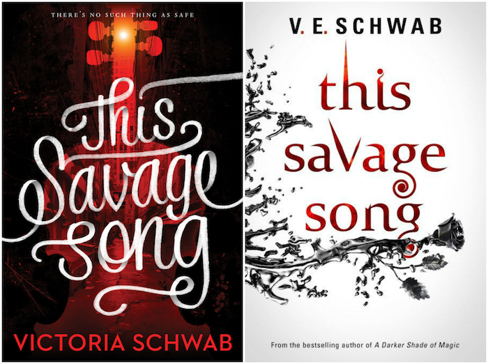 This Savage Song US UK Book Cover Battle