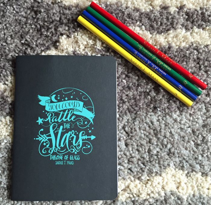 Throne of Glass Colored Pencils Notebook