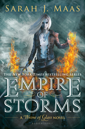 Empire of Storms Sarah J Maas Book Cover