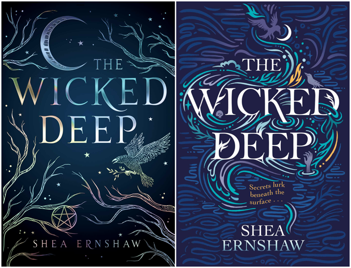 book cover battle the wicked deep by shea ernshaw us cover vs
